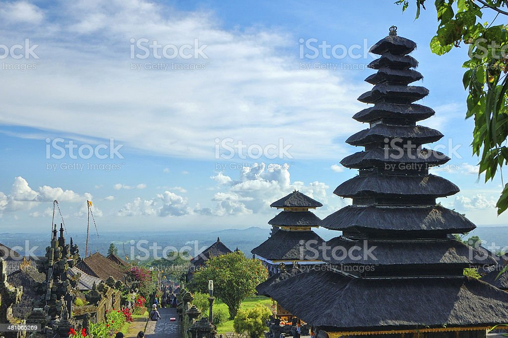 Old oriental temple stock photo