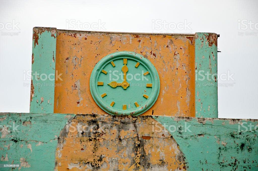 Old ornamental clock stock photo