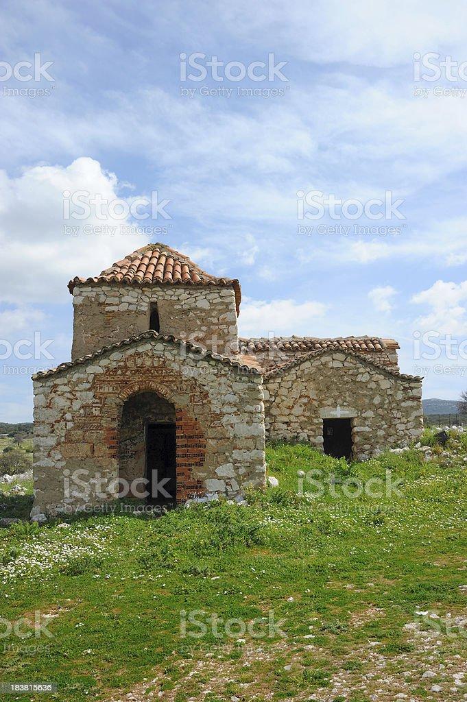 Old Orthodox Church in Corinthia - Greece royalty-free stock photo