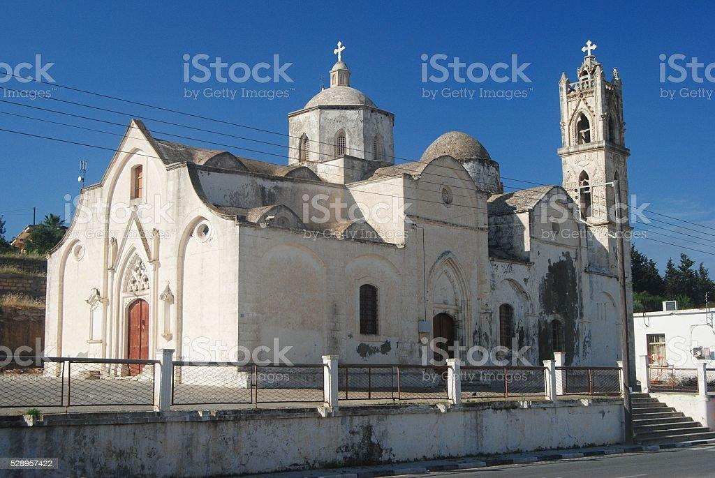 Old Orthodox church in Dipkarpaz, Cyprus. stock photo