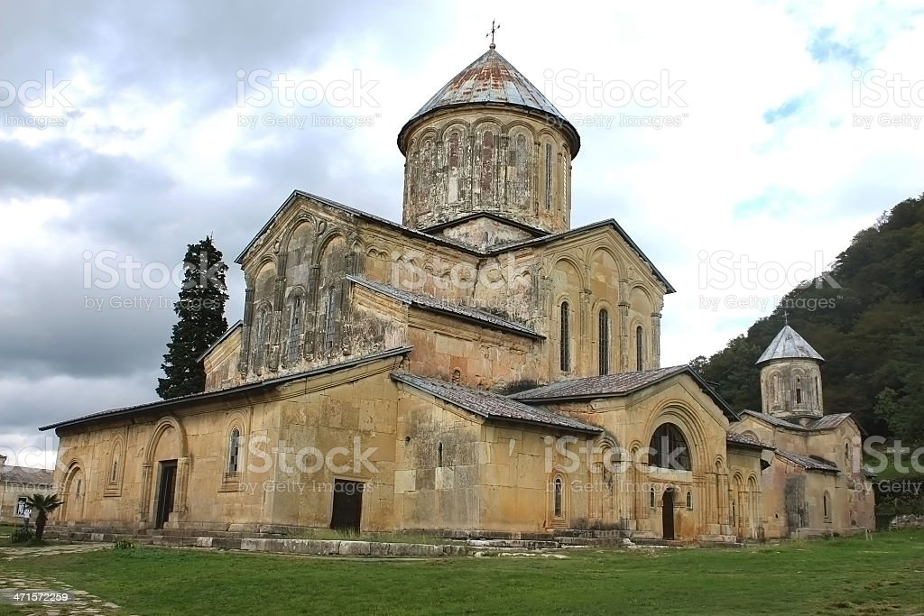 Old orthodox monastery Gelati near Kutaisi royalty-free stock photo