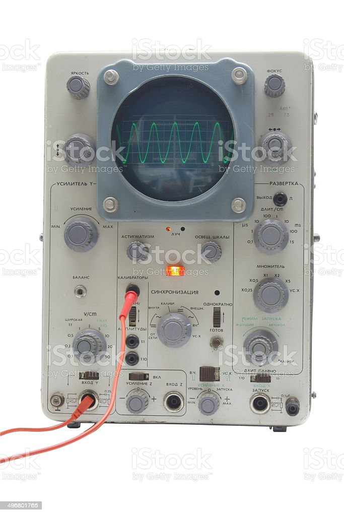 old oscillograph stock photo