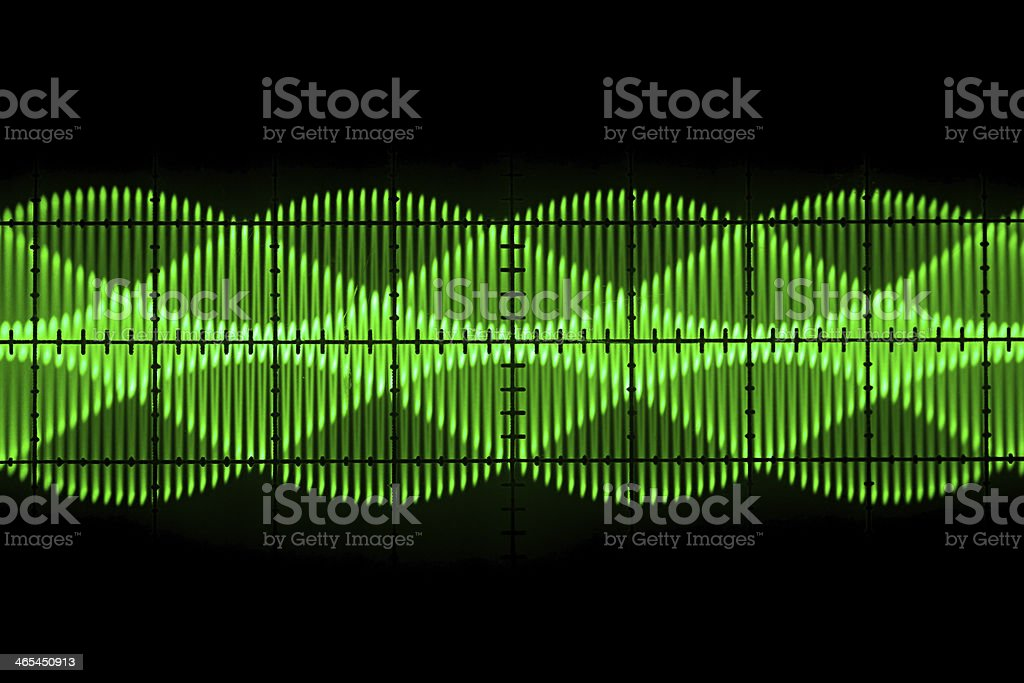 Old oscilloscope  screen stock photo