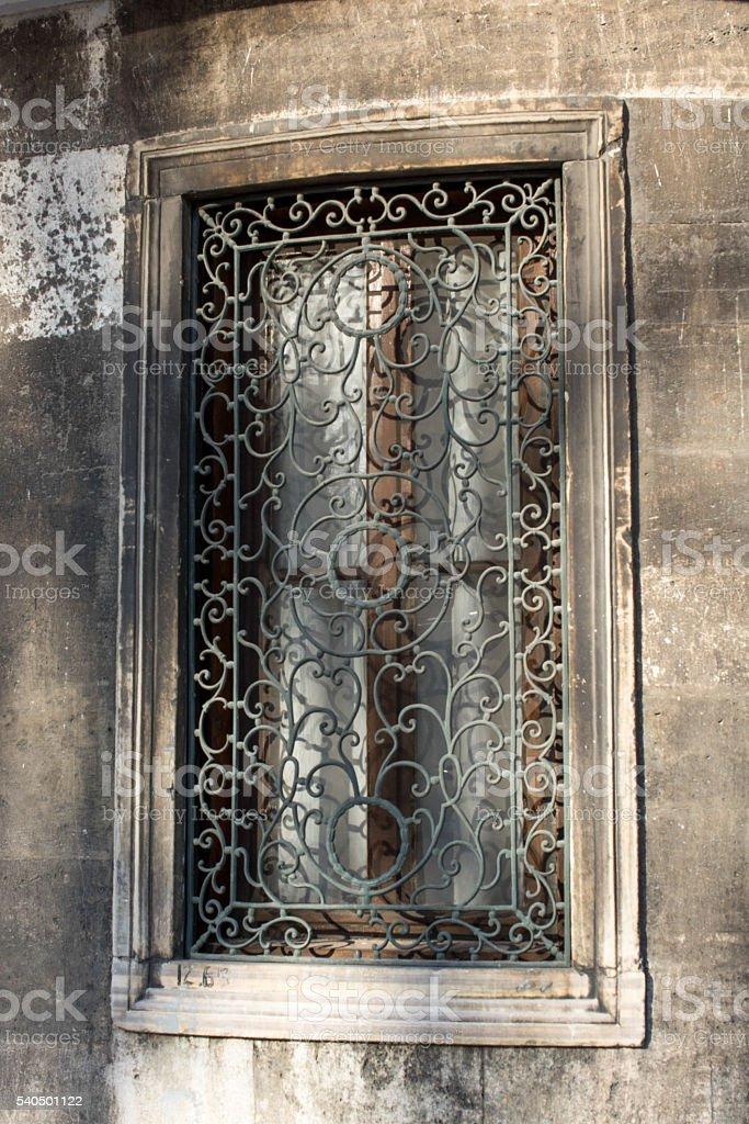Old Ottoman stlye window stock photo