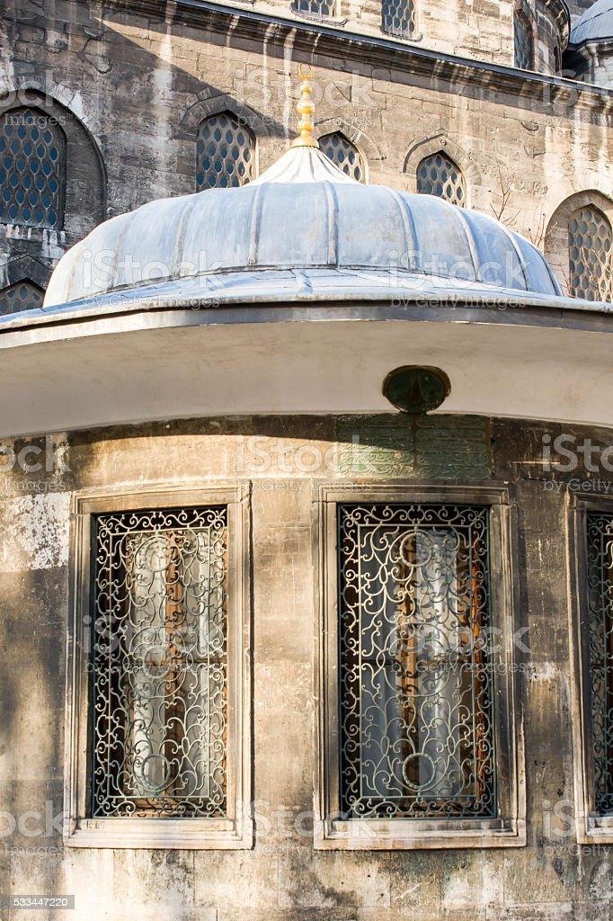 Old Ottoman stlye windows stock photo