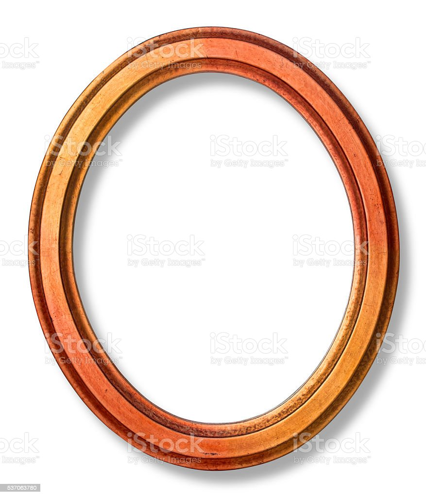 old oval picture frame stock photo
