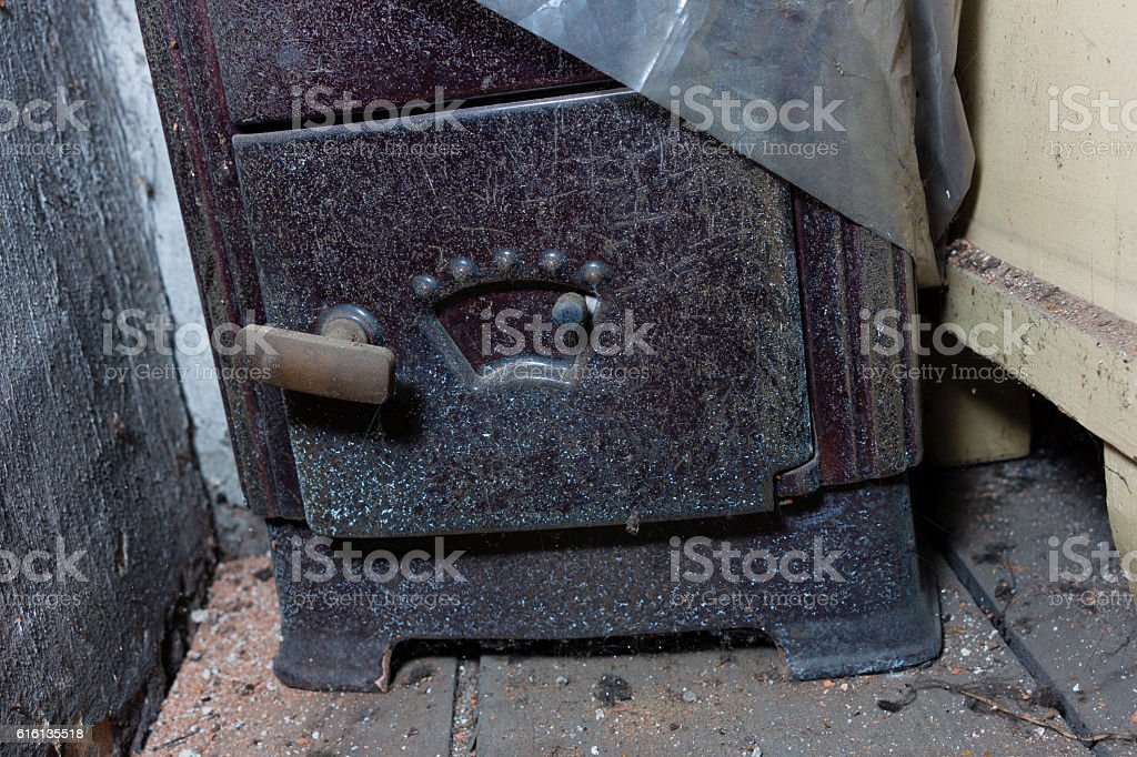 Old oven stock photo