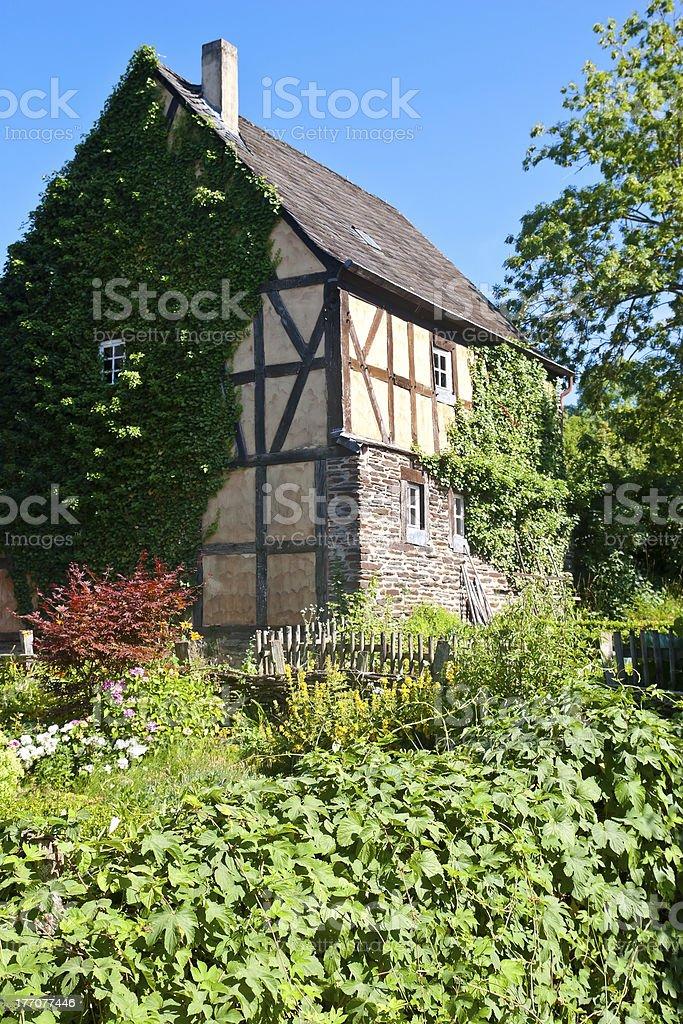 Old Overgrown Farmhouse royalty-free stock photo