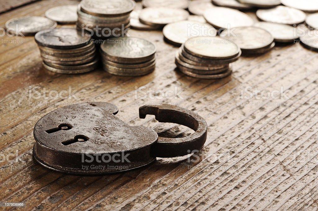 Ancien cadenas gros plan photo libre de droits
