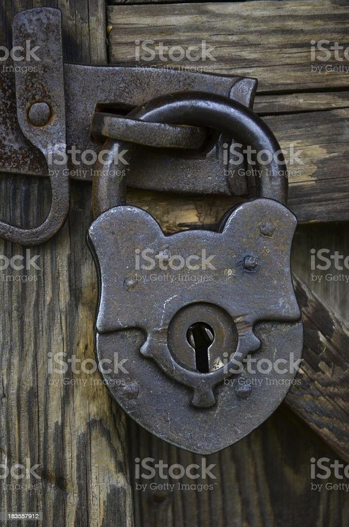 Old padlock - detail royalty-free stock photo