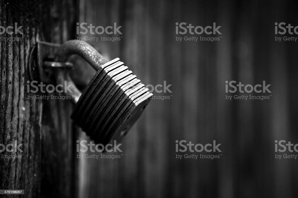 Old padlock royalty-free stock photo