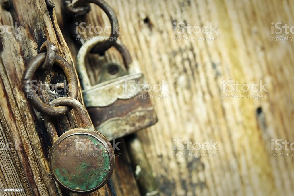 Old padlocks stock photo