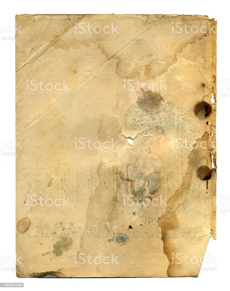 old page of antique book royalty-free stock photo