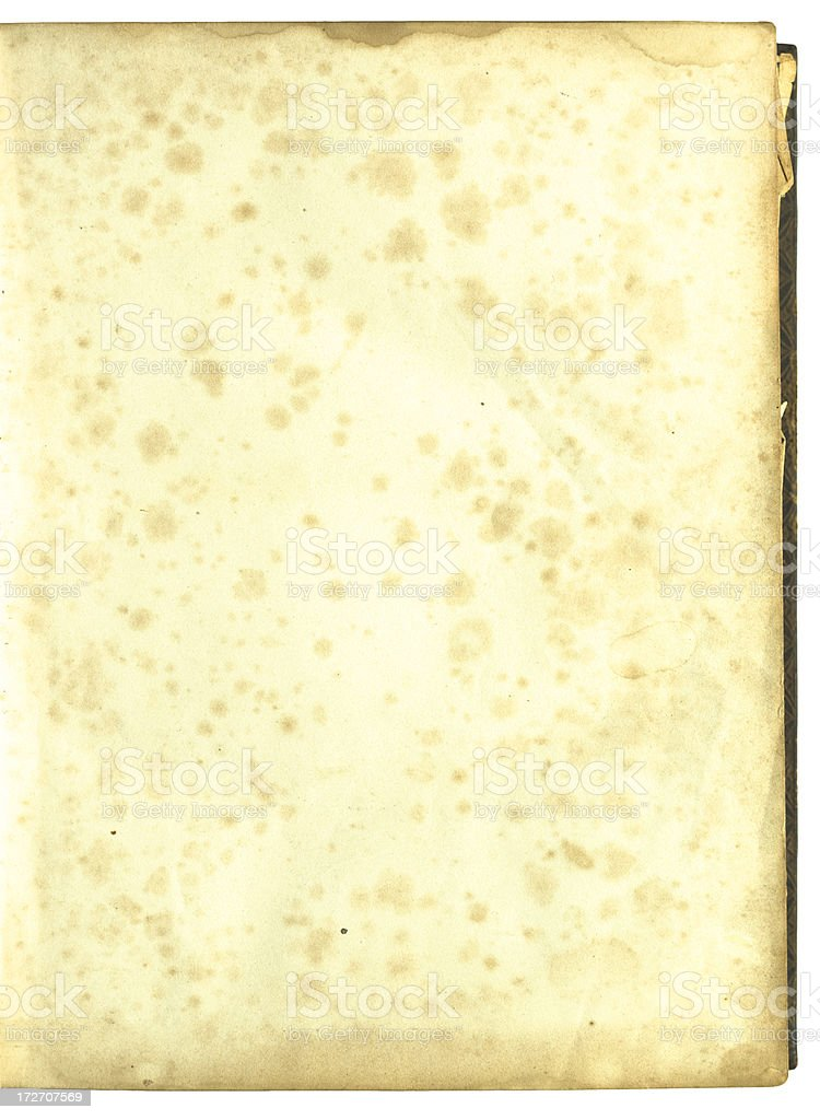 Old page with lots of little stains royalty-free stock photo