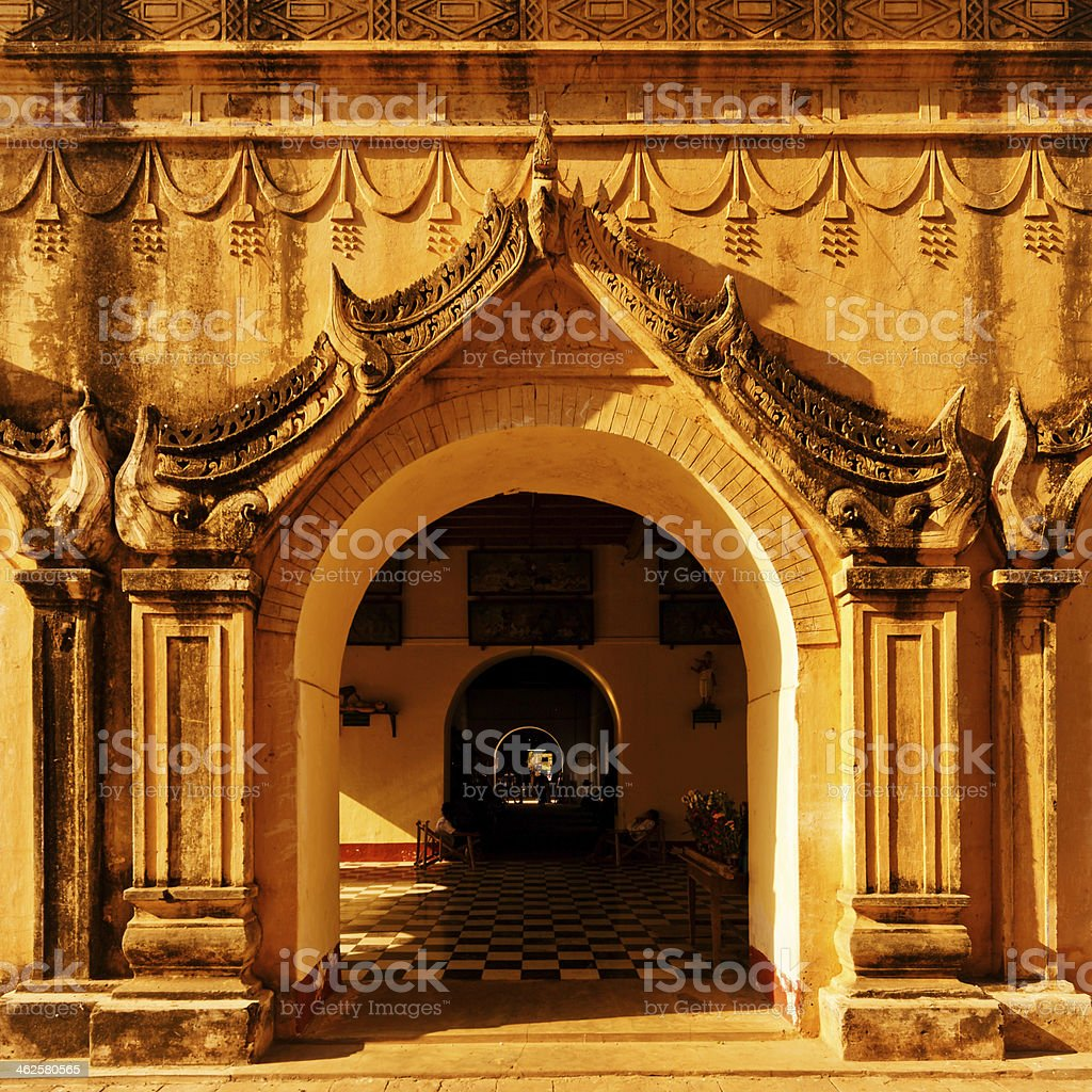 old Pagoda entrance in Burma royalty-free stock photo