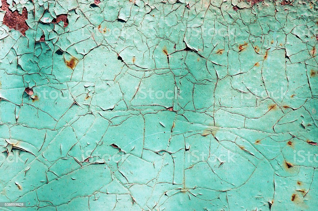 Old paint on metal surface. foto de stock royalty-free