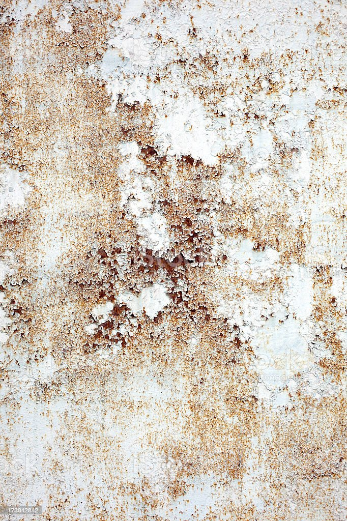 old paint on rusty metal texture royalty-free stock photo
