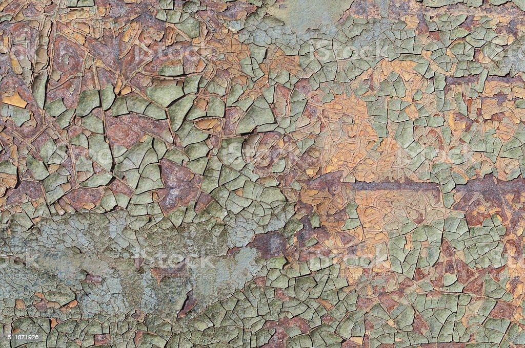 Old paint on the iron stock photo