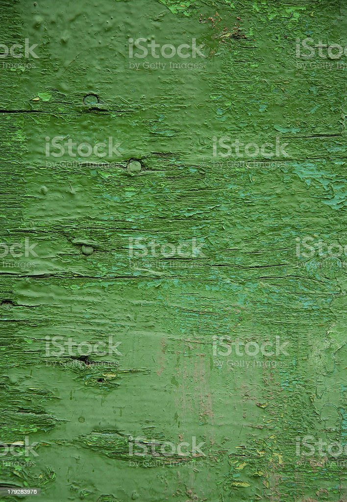 Old painted board with nails. royalty-free stock photo