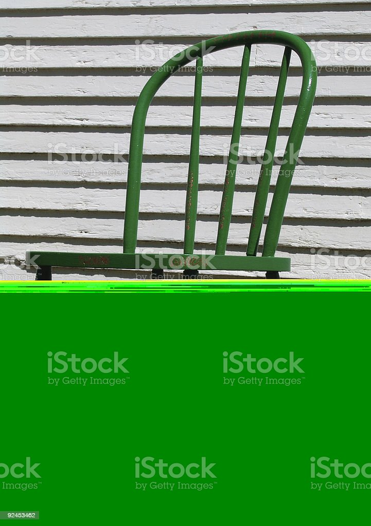 Old painted chair stock photo