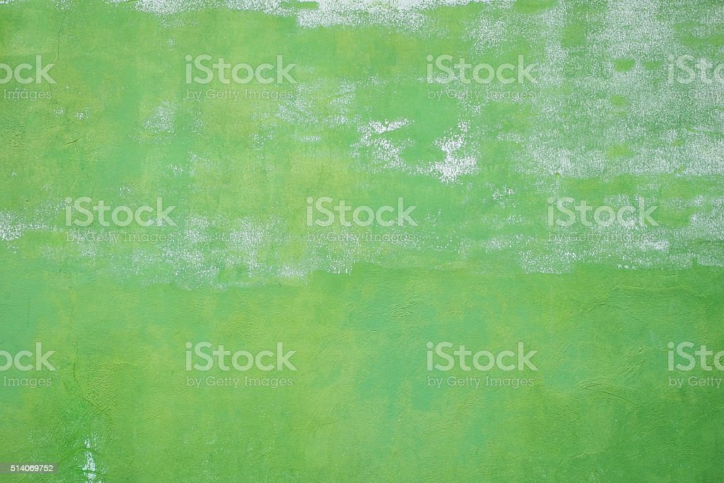 old painted green wall stock photo