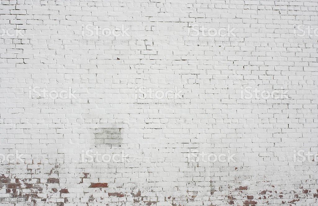 Old painted white Brick wall background pattern design stock photo