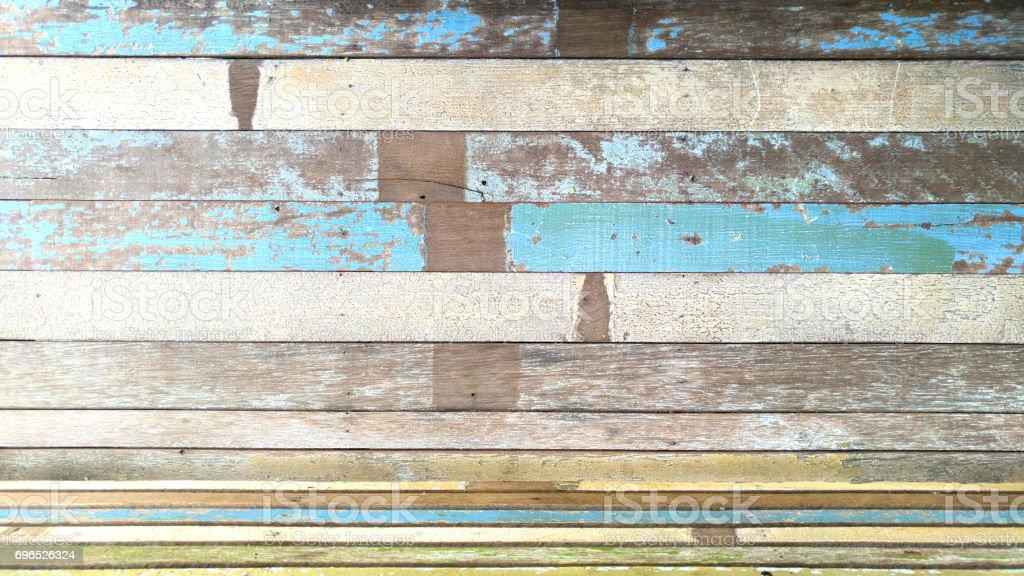 Old painted wooden background and texture. stock photo