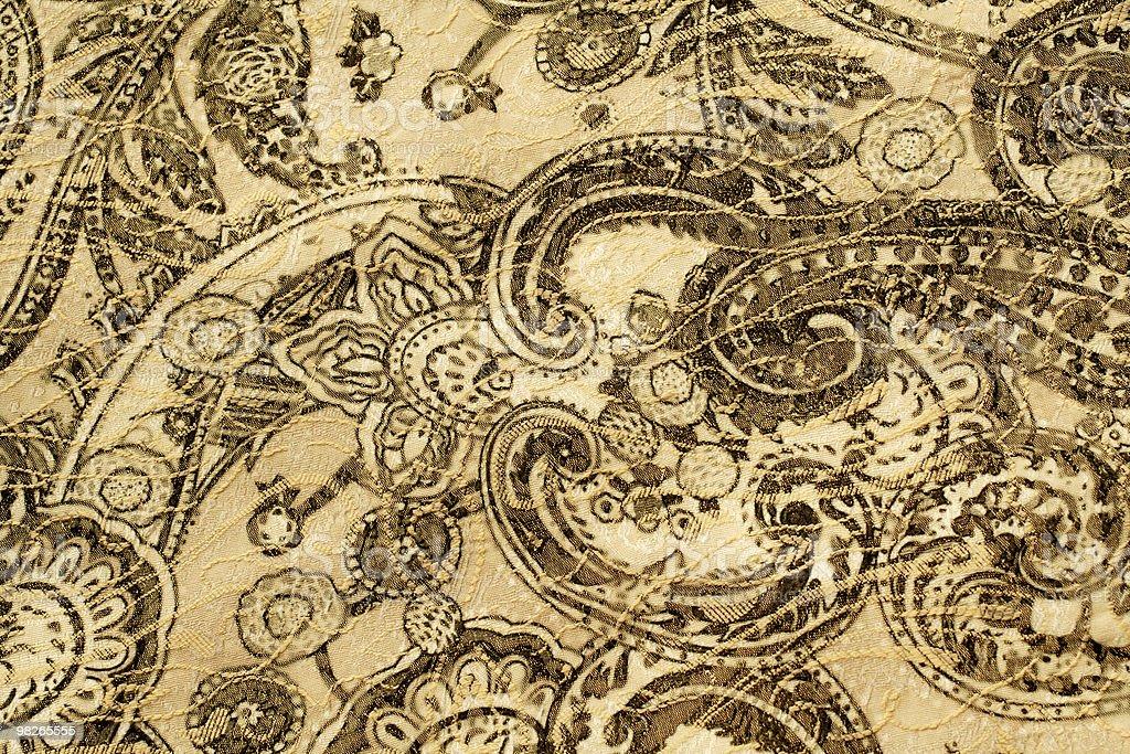 Old paisley fabric stock photo