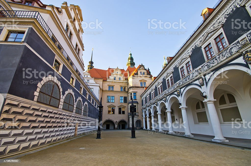 Old palace in Dresden, Germany stock photo