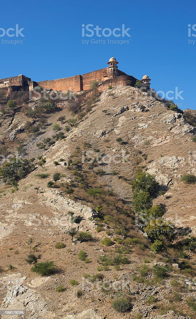 Old palace in Jaipur, India stock photo