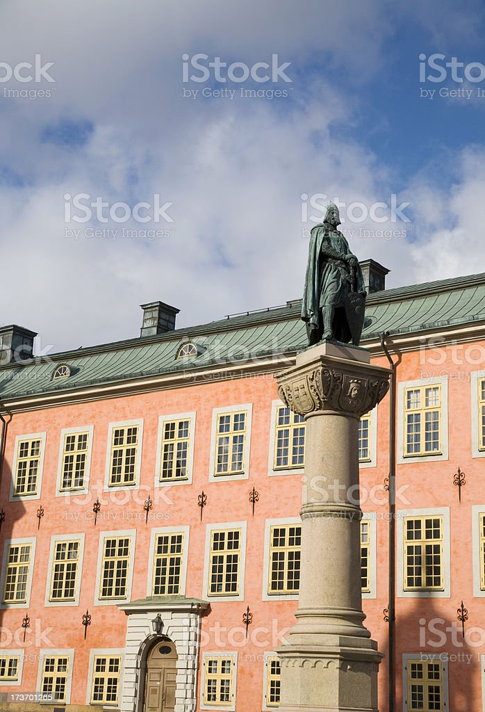 Old palace in Stockholm. stock photo