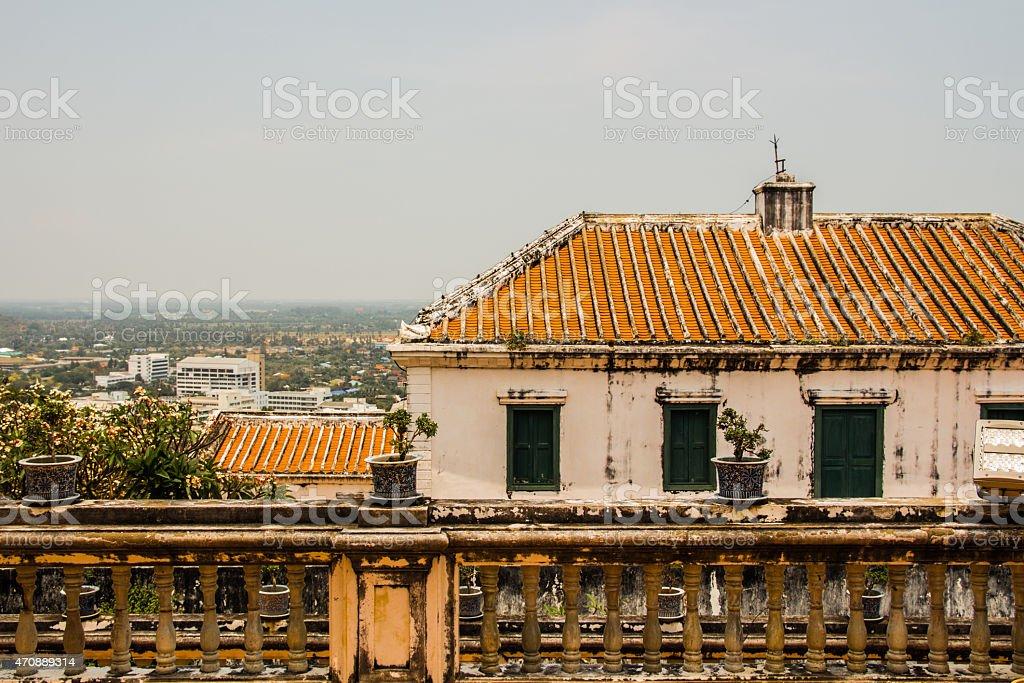 Antigo palácio, Tailândia foto royalty-free