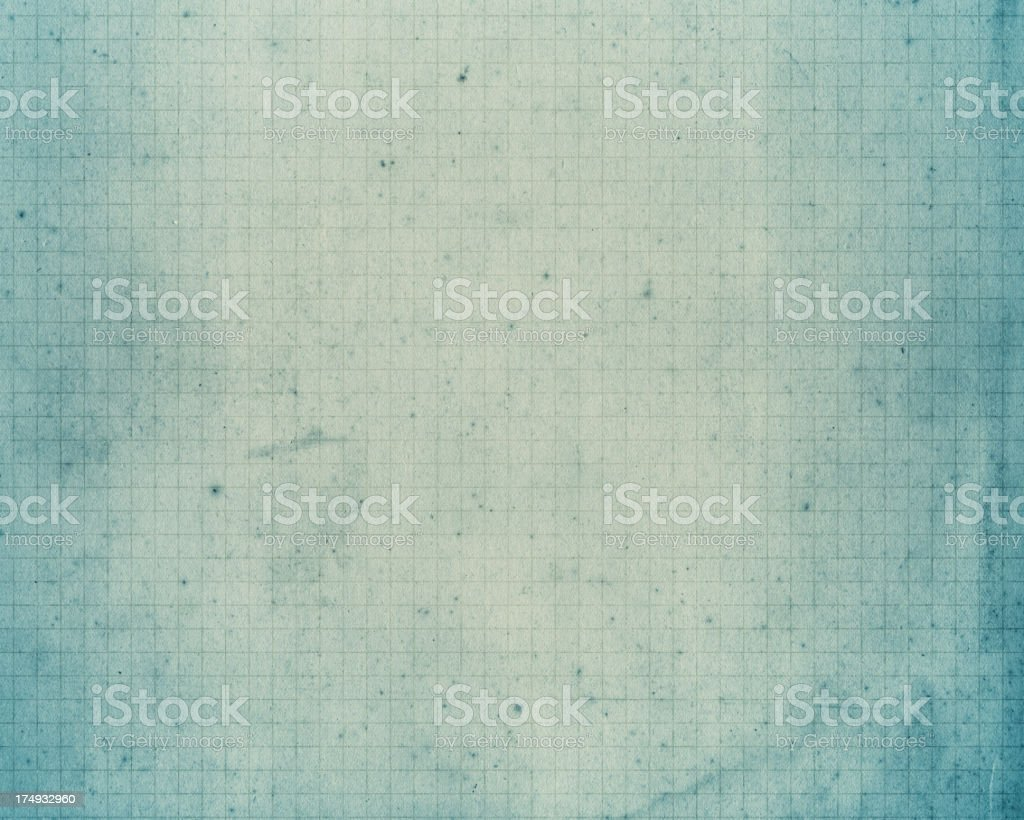 old pale blue graph paper stock photo