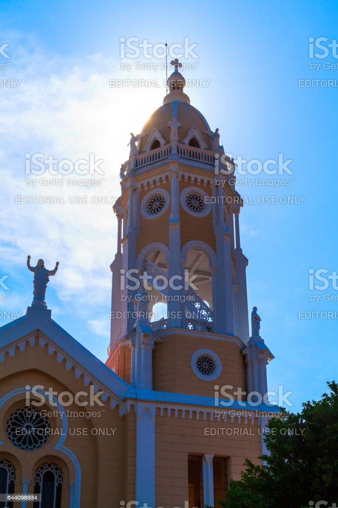 Old Panama City    Church stock photo