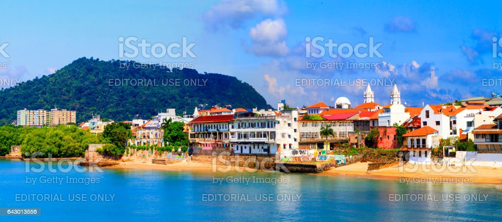 Old Panama City stock photo