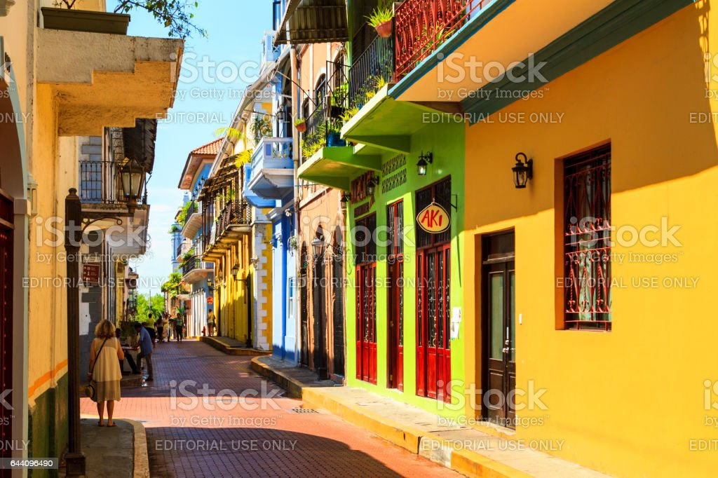 Old Panama City stock photo