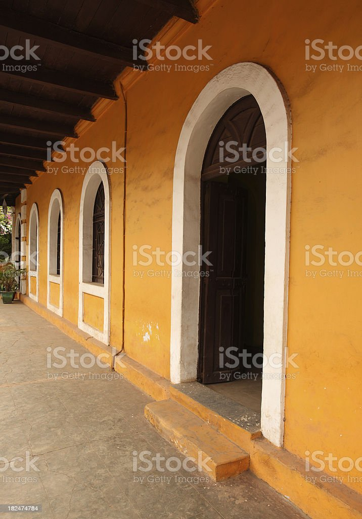 Old Panjim Architecture stock photo