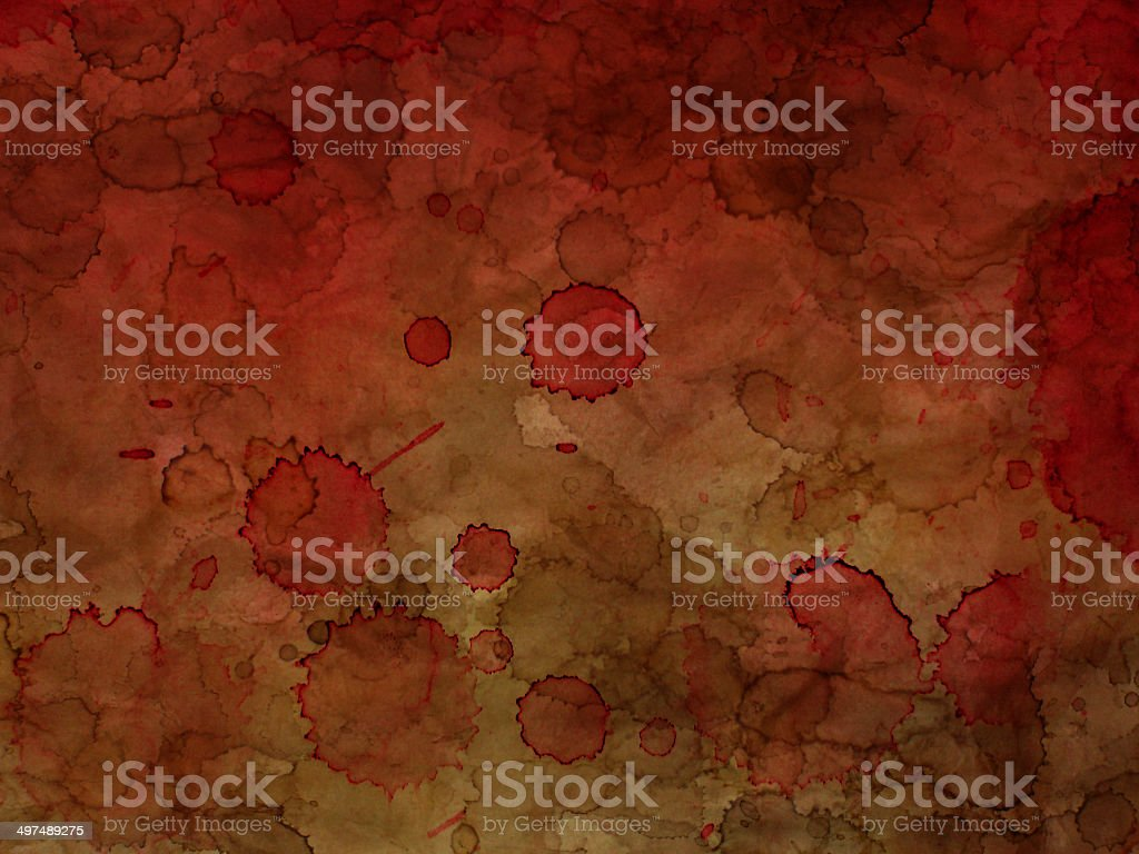 Old paper background with red blot royalty-free stock photo