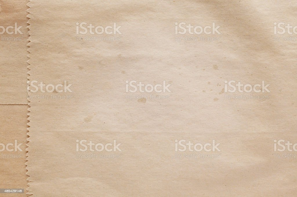 Old paper bag texture background stock photo