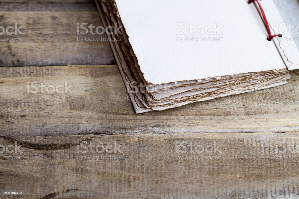 old paper book stock photo