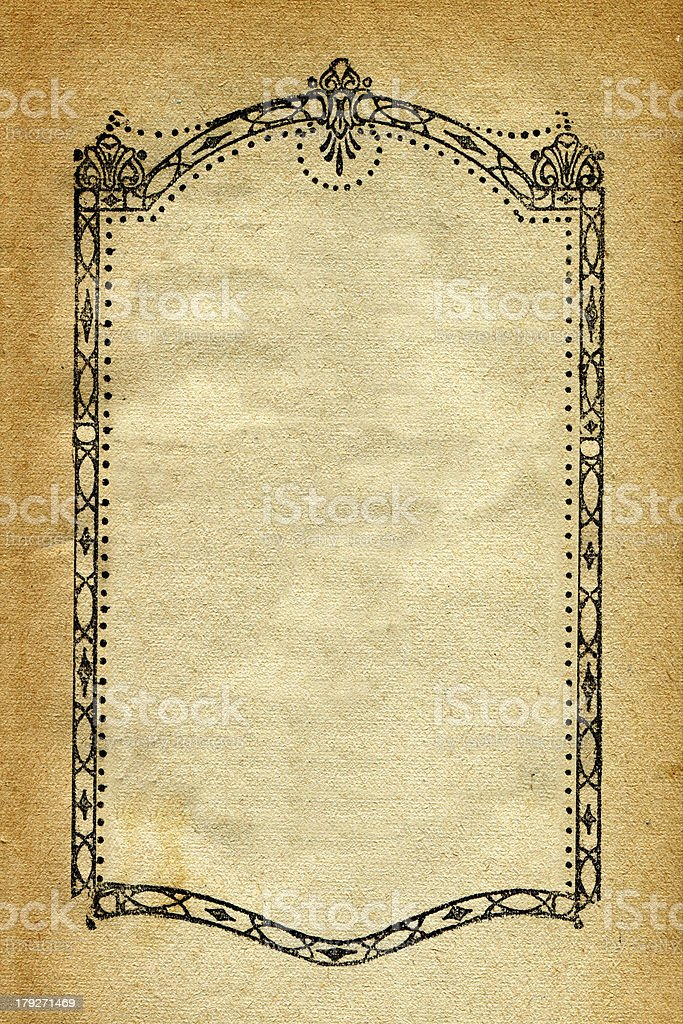 Old paper decoration royalty-free stock photo