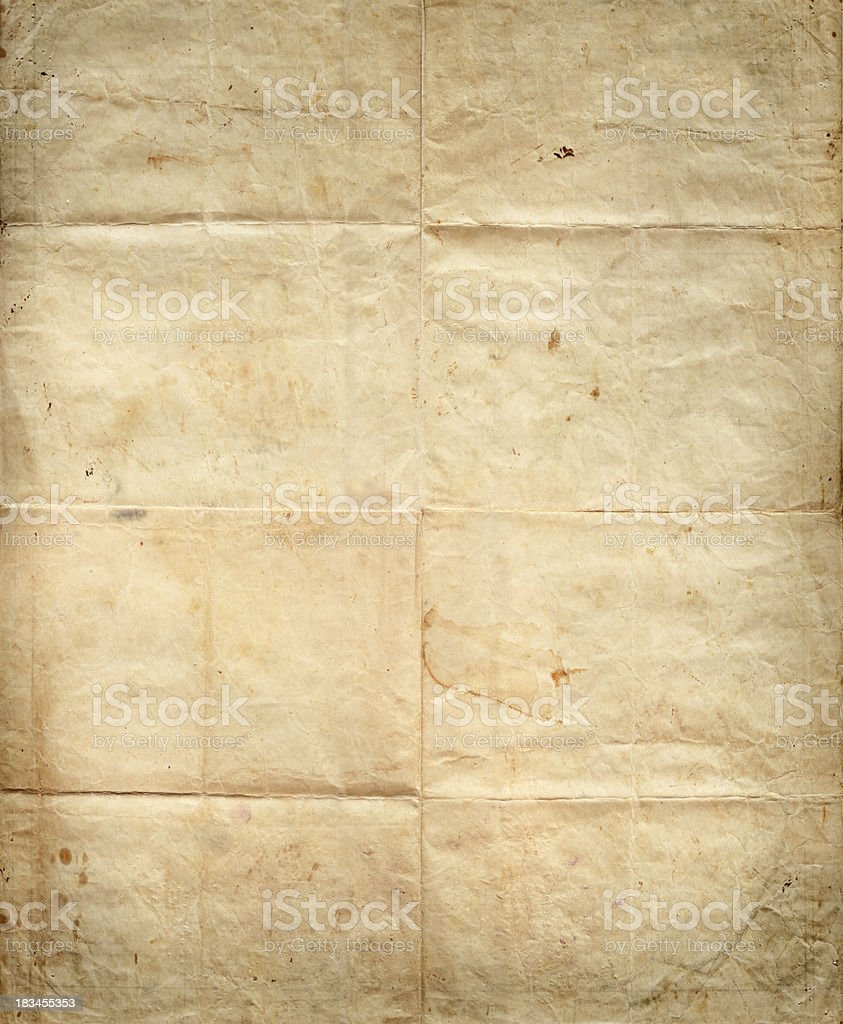 Old Paper Grunge Texture royalty-free stock photo