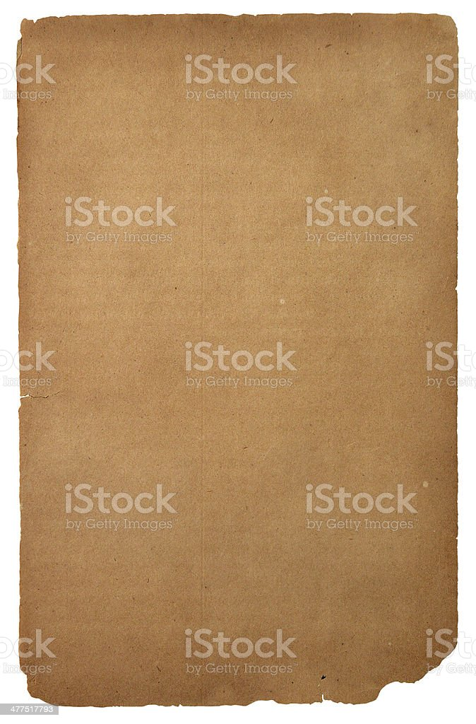 Old paper isolated over white royalty-free stock photo