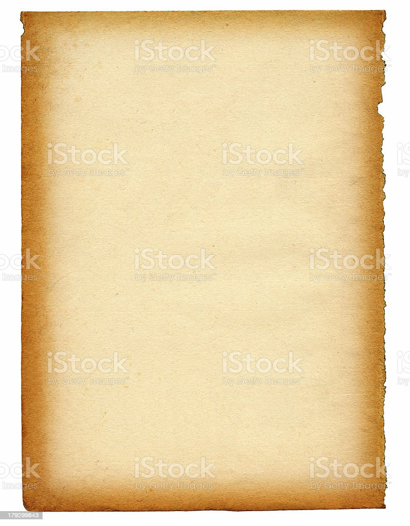 old paper page XXL stock photo