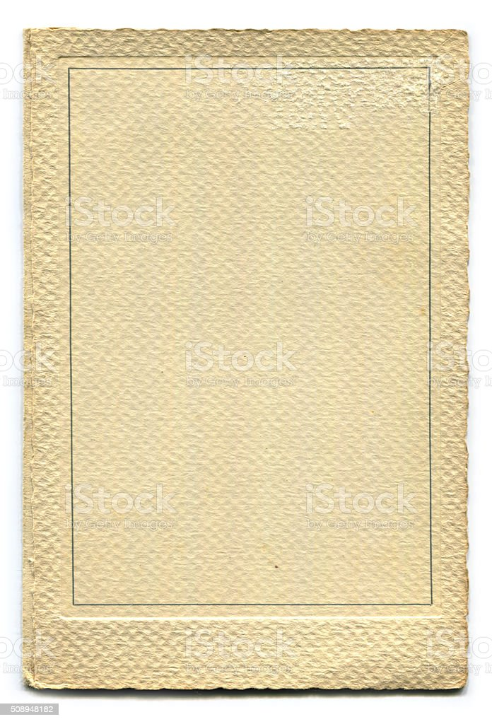 Old Paper Photoframe (including clipping path) stock photo