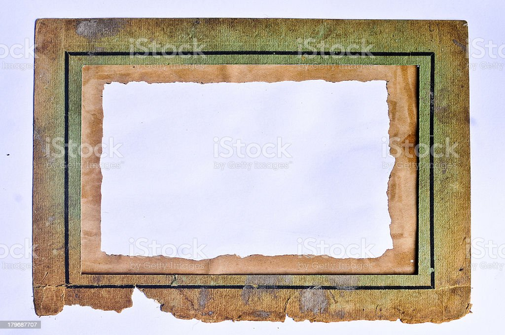 Old paper picture frame royalty-free stock photo