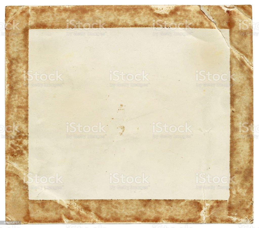 Vecchia carta (con clipping path) foto stock royalty-free