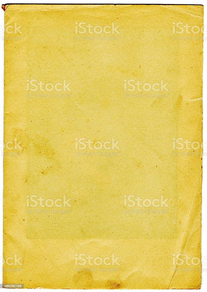 Old Paper (including clipping path) royalty-free stock photo