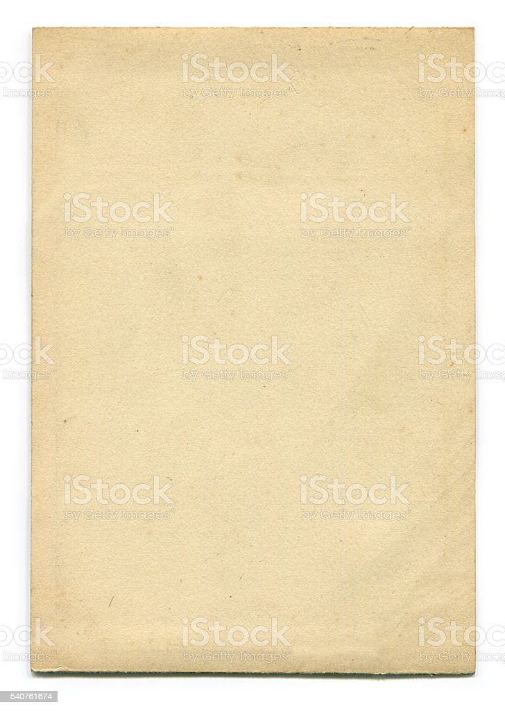 Old Paper (including clipping path) stock photo
