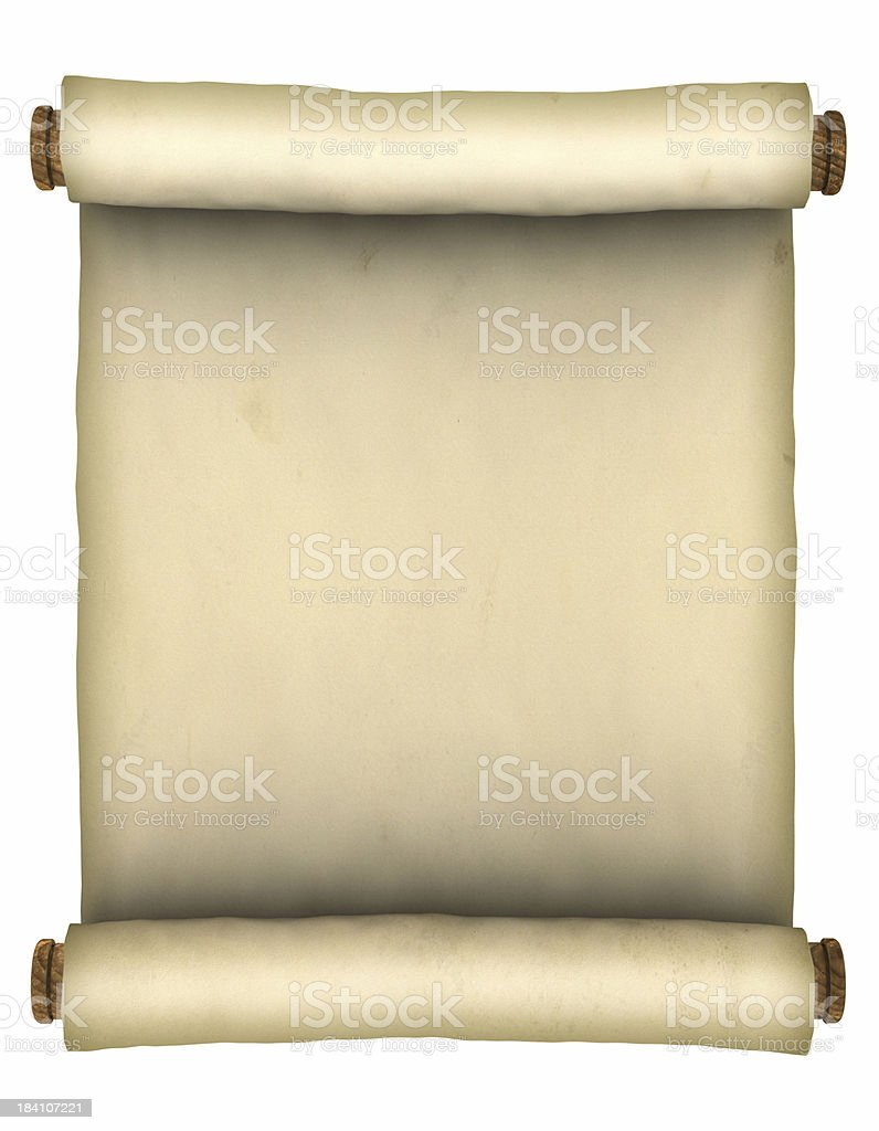 Old paper scroll royalty-free stock photo